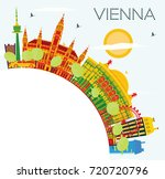 vienna skyline with color... | Shutterstock . vector #720720796