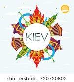 kiev skyline with color... | Shutterstock . vector #720720802