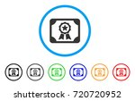authorize diploma rounded icon. ... | Shutterstock .eps vector #720720952