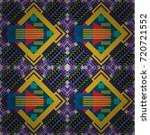 seamless geometric vector... | Shutterstock .eps vector #720721552
