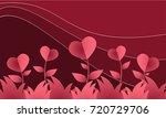 vector illustration of red... | Shutterstock .eps vector #720729706