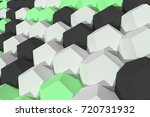 pattern of white  green and... | Shutterstock . vector #720731932