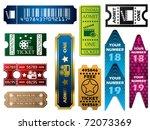 vector ticket set | Shutterstock .eps vector #72073369