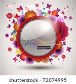 spring floral banner. | Shutterstock .eps vector #72074995