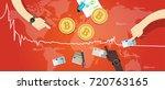 bitcoin price market value... | Shutterstock .eps vector #720763165