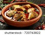 south indian cuisine  homemade... | Shutterstock . vector #720763822