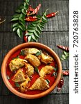 spicy traditional fish curry ... | Shutterstock . vector #720763828