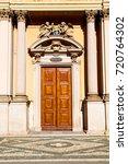 old door    in italy land... | Shutterstock . vector #720764302