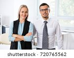 young business people in an... | Shutterstock . vector #720765562
