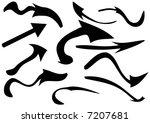 warped arrow shapes | Shutterstock . vector #7207681