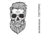 bearded skull illustration | Shutterstock .eps vector #720770992