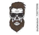 bearded skull illustration | Shutterstock .eps vector #720770998