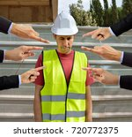many hands pointing the... | Shutterstock . vector #720772375