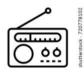 radio icon | Shutterstock .eps vector #720778102