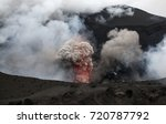 volcanic eruption   mount yasur ... | Shutterstock . vector #720787792