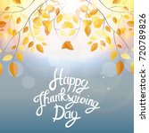 happy thanksgiving day... | Shutterstock .eps vector #720789826