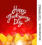 happy thanksgiving day... | Shutterstock .eps vector #720789862