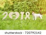 happy chinese new year 2018... | Shutterstock . vector #720792142