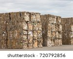 stack of paper waste before... | Shutterstock . vector #720792856
