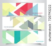 collection of banners with... | Shutterstock .eps vector #720793222