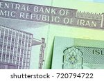 close up iranian banknote and... | Shutterstock . vector #720794722