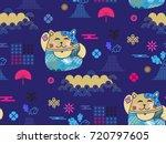 beautiful japanese seamless ... | Shutterstock .eps vector #720797605