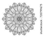 mandala. black and white... | Shutterstock . vector #720799675