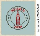 grunge vector stamp of london... | Shutterstock .eps vector #720808462