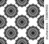 seamless pattern with abstract... | Shutterstock .eps vector #720809002