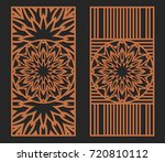 laser cutting set. wall or... | Shutterstock .eps vector #720810112