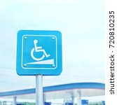 parking sign for persons with... | Shutterstock . vector #720810235