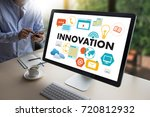 innovation think creative ideas ...   Shutterstock . vector #720812932