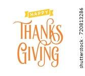 happy thanks giving | Shutterstock .eps vector #720813286