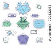 clocks icon set on white... | Shutterstock .eps vector #720822085