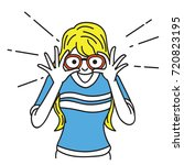 vector illustration character... | Shutterstock .eps vector #720823195