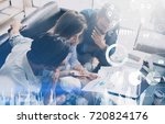 concept of digital diagram... | Shutterstock . vector #720824176