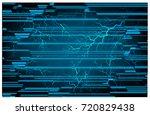binary circuit future... | Shutterstock .eps vector #720829438