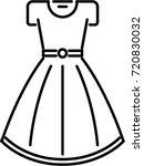 dress outline icon | Shutterstock .eps vector #720830032