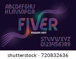 vector geometric font named ... | Shutterstock .eps vector #720832636