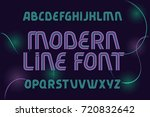 modern line font with... | Shutterstock .eps vector #720832642