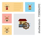 flat icon mill set of power ... | Shutterstock .eps vector #720836392