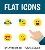 flat icon emoji set of love ... | Shutterstock .eps vector #720836686