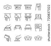 ticket machine line icon set 1. ... | Shutterstock .eps vector #720837322