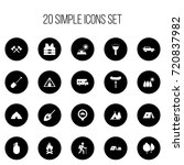 set of 20 editable camping...
