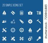 set of 20 editable service...