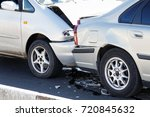 two cars in a car accident on... | Shutterstock . vector #720845632