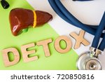 liver detox concept photo. word ... | Shutterstock . vector #720850816