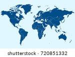 world map vector | Shutterstock .eps vector #720851332