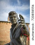 billy fury statue and memorial  ... | Shutterstock . vector #720858556