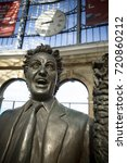 Small photo of Ken Dodd Statue on the concourse of Liverpool Lime Street Railway Station, Liverpool, UK by sculptor Tom Murphy. 24th June 2014